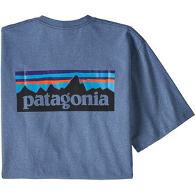 Patagonia P-6 Logo Camiseta responsable Hombre, woolly blue